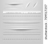 dividers gradient mesh  vector... | Shutterstock .eps vector #709517257