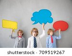 children pretend to be... | Shutterstock . vector #709519267