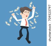 vector illustration of happy... | Shutterstock .eps vector #709523797