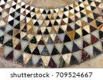 byzantine mosaics on the floor... | Shutterstock . vector #709524667