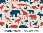 pattern with different animals    Shutterstock .eps vector #709525693
