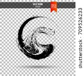 hand drawn circle shape. label  ... | Shutterstock .eps vector #709526233