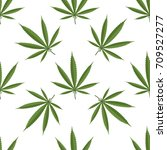 seamless pattern of cannabis... | Shutterstock .eps vector #709527277