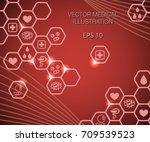 vector illustration of medical... | Shutterstock .eps vector #709539523