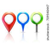 pin map marker | Shutterstock .eps vector #709540447