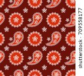 seamless paisley  pattern ...   Shutterstock .eps vector #709558177