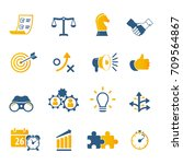strategy and business icon set | Shutterstock .eps vector #709564867