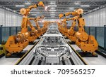 3d rendering robot assembly... | Shutterstock . vector #709565257