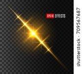light effect of sun or... | Shutterstock .eps vector #709567687