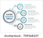 circle infographic template... | Shutterstock .eps vector #709568107