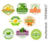 fruits icons for juice label or ... | Shutterstock .eps vector #709568617