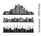 buildings and skyscrapers... | Shutterstock .eps vector #709579363