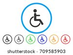 disabled person rounded icon.... | Shutterstock .eps vector #709585903