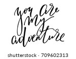 phrase valentines day writing... | Shutterstock .eps vector #709602313