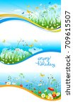 summer or spring template for... | Shutterstock .eps vector #709615507