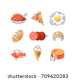 set of gastronomy food icons ...   Shutterstock .eps vector #709620283
