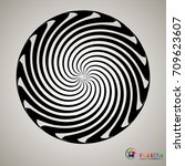 vector striped spiral abstract... | Shutterstock .eps vector #709623607