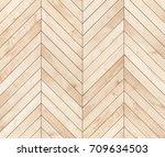 natural brown wooden parquet... | Shutterstock . vector #709634503