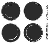 black blank template circle... | Shutterstock .eps vector #709638127