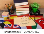 learning languages concept  ... | Shutterstock . vector #709640467