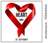 world heart day. realistic red... | Shutterstock .eps vector #709646563