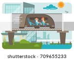 hyper loop illustration on... | Shutterstock .eps vector #709655233