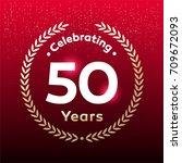 50 years anniversary badge ... | Shutterstock .eps vector #709672093