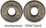 Fiji Fijian Coin 1 2 Half Penn...