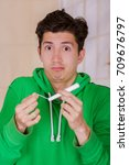 handsome man with a funny face...   Shutterstock . vector #709676797