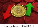 3d illustration of bitcoin over ... | Shutterstock . vector #709680643