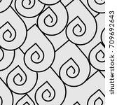 modern b w pattern. vector... | Shutterstock .eps vector #709692643