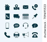 set of contact icons | Shutterstock .eps vector #709695523