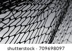 net background   net on gray... | Shutterstock . vector #709698097