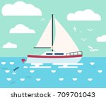 flat style illustration of a... | Shutterstock .eps vector #709701043