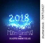 happy new year greeting... | Shutterstock .eps vector #709713427