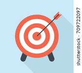 target and arrow icon | Shutterstock .eps vector #709722097