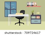 modern office with vacancy sign ... | Shutterstock .eps vector #709724617