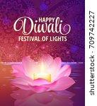 diwali. vector. festival of... | Shutterstock .eps vector #709742227