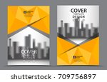 yellow color scheme with city... | Shutterstock .eps vector #709756897