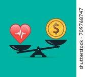 health or money vector... | Shutterstock .eps vector #709768747