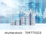graph coins stock finance and... | Shutterstock . vector #709775323