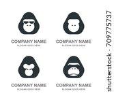 Gorilla Monkey Ape Animal Logo...