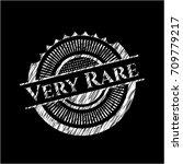 very rare chalkboard emblem... | Shutterstock .eps vector #709779217