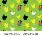 chicken jersey giant green... | Shutterstock .eps vector #709784743