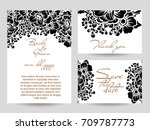 romantic invitation. wedding ... | Shutterstock .eps vector #709787773
