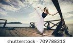 female ballet dancer | Shutterstock . vector #709788313
