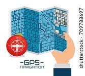 gps navigation concept | Shutterstock .eps vector #709788697