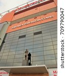 Small photo of Statue of Sir Alex.Ferguson at the old trafford stadium, Manchester United football club, Manchester City, England, 16/03/14 when shooting.