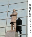 Small photo of The statue of Sir AlexFerguson was at the old trafford stadium,Manchester United football club.The city of Manchester, England, taken on 3/16/14.
