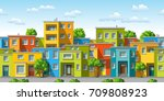 illustration of colorful modern ... | Shutterstock .eps vector #709808923